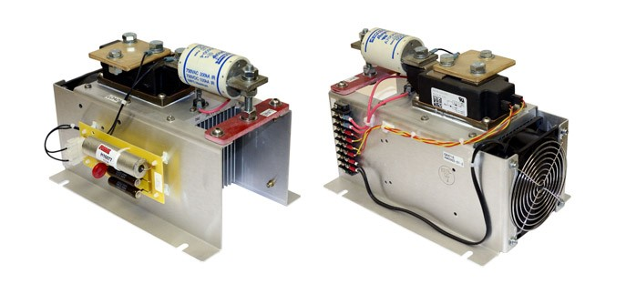 PowerCube - Two Views - Terminal Block View and Cooling Fan View