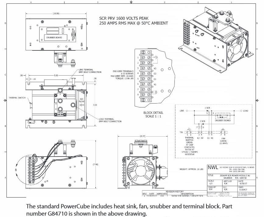 PowerCube G84710 Drawing